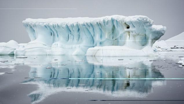 Photographie d'un glacier