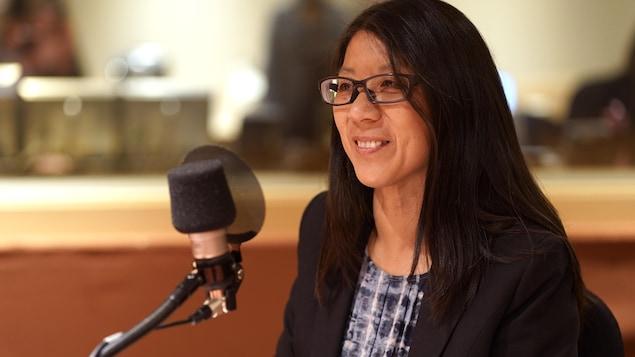 La Dre Joanne Liu en entrevue à la radio de Radio-Canada.