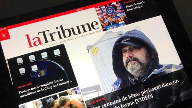 La version numérique du quotidien La Tribune.