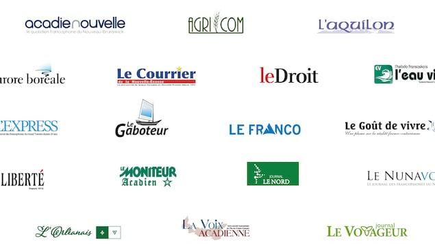 Le logo des 18 journaux membres