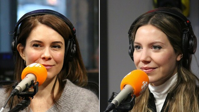 Julie Perreault, Magalie Lépine-Blondeau en studio.