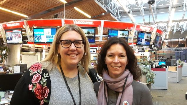 Karine Boily, coordonnatrice santé et sécurité,   et Mary-LouMcCarthy, directrice des services spécialisés, toutes les deux au Conseil scolaire francophone de la Colombie-Britannique (CSF).