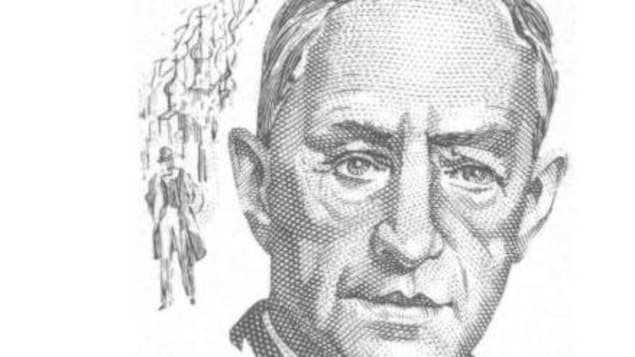 Couverture du roman où apparaît le dessin du visage d'un homme au regard profond.
