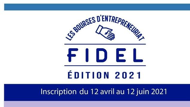 L'affiche pour les bourses en entrepreneuriat de FIDEL Matanie.