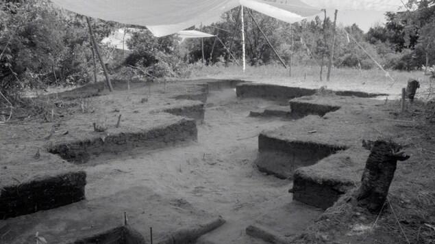 Le site archéologique Isings dans la région de Saint-Anicet au Québec.
