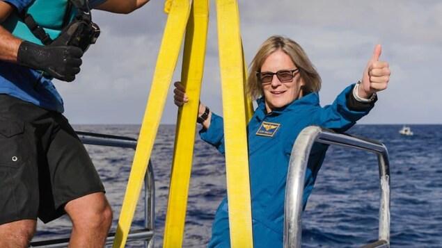 Kathryn Sullivan sur le navire d'expédition.