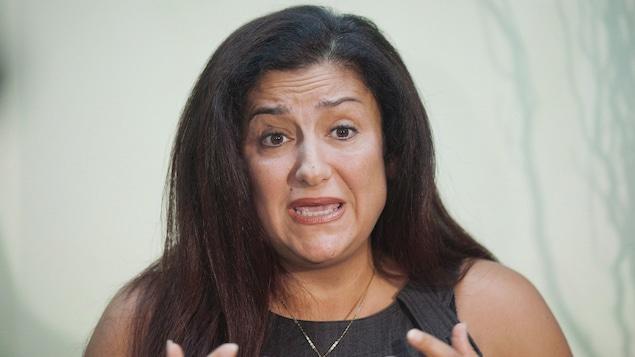 Maria Mourani en septembre 2013, après son expulsion du Bloc québécois