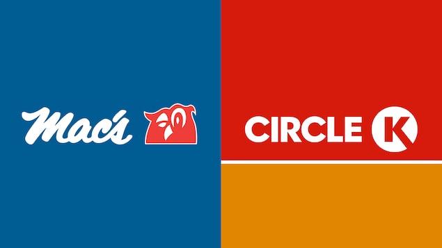 Logos des magasins Mac's et Circle K