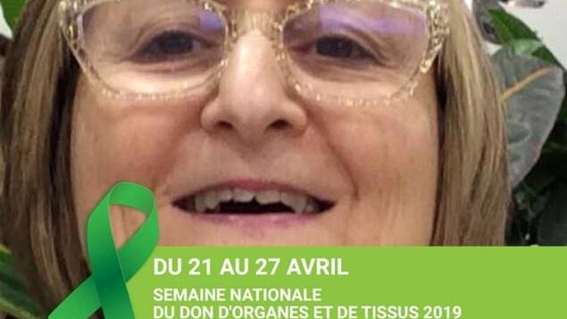 Maryse Clements, double greffée septilienne du coeur et du rein.