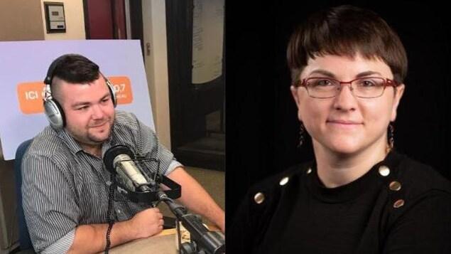 Photo des deux écrivains.