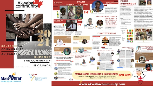 Montage de quelques pages du magazine Akwaba.