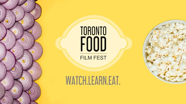 Affiche promotionnelle du Toronto Food Festival. On y voit un logo de citron et le slogan «Watch.Learn.Eat.».