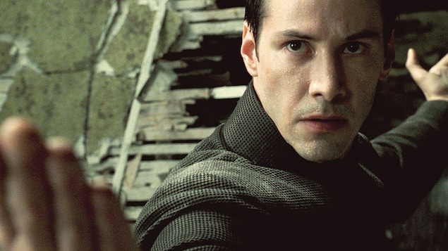 Keanu Reeves dans la trilogie « La matrice »