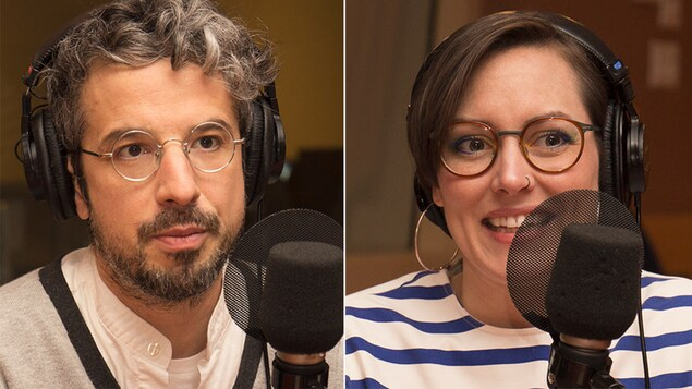 L'animateur Matthieu Dugal et la journaliste scientifique Marianne Desautels-Marissal