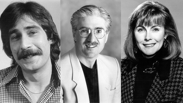 Portraits des trois anciens animateurs