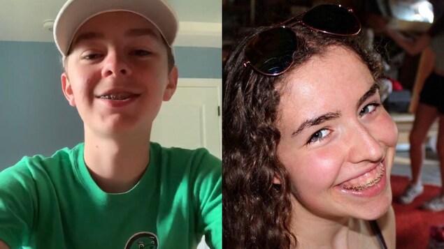 Un jeune garçon et une jeune femme.
