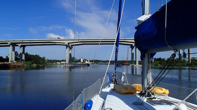 À bord de Océo, un voilier de 43 pieds