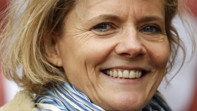Portrait de la journaliste française Florence Aubenas