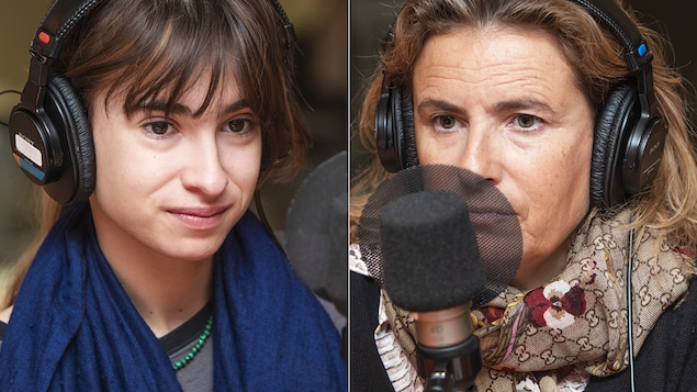 Thaïs Alessandrin et Lisa Azuelos au micro de Catherine Perrin.