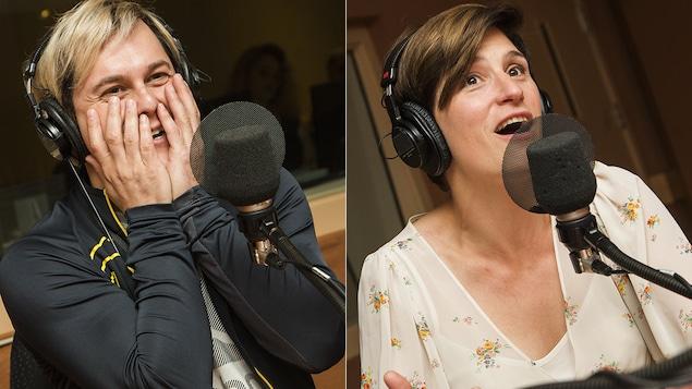 Alex Perron et Salomé Corbo au micro de Catherine Perrin