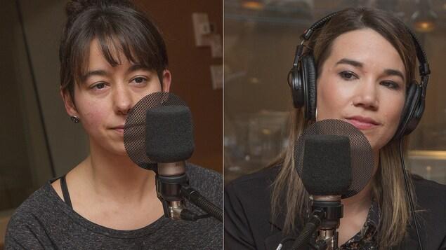 Sonya Anvar et Marie-Eve Tremblay au micro de Catherine Perrin.