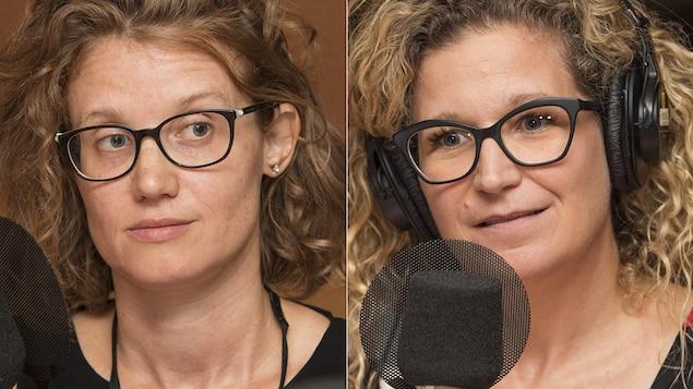 Emmanuelle Bernheim et Véronique Robert au micro de Catherine Perrin.