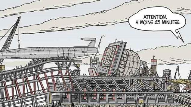 Une vignette tirée de la bande dessinée Le cauchemar argenté, de Grégoire Bouchard.