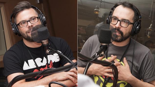 Dominic Bourret et Laurent Lasalle au micro de Stéphan Bureau