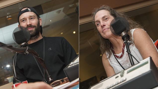 Léo Viger-Bernard et Nathalie Chartrand au micro de Catherine Perrin