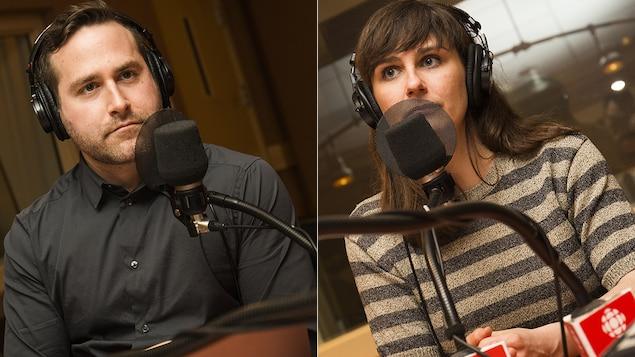 Jean-Philippe Cipriani et Julie Dufort au micro de Catherine Perrin