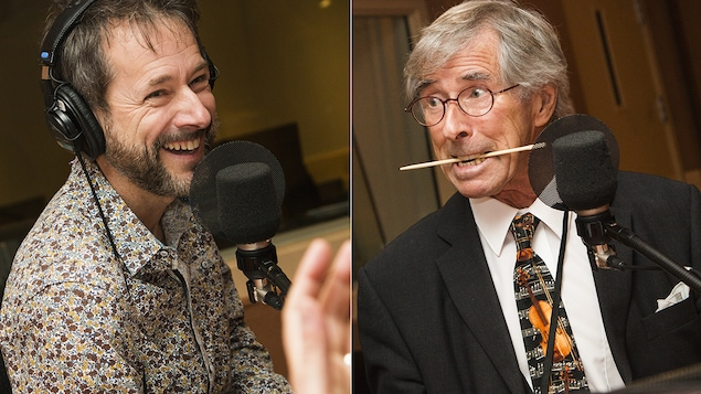 Marc-André et Jean-Pierre Coallier au micro de Catherine Perrin