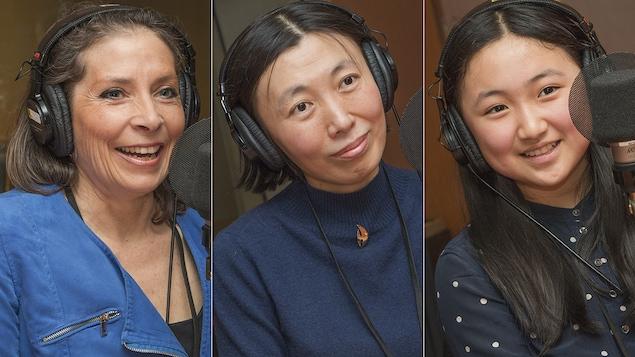 Isabelle de Blois, Xu Jin et Amanda au micro de Catherine Perrin.