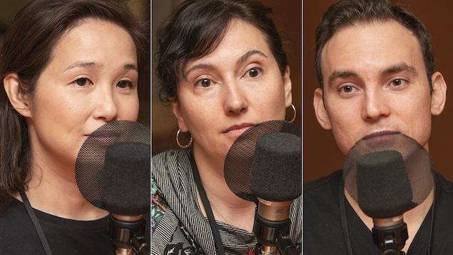 Maï Duong, Barbara Vadnais et François Lucas Alzate au micro de Catherine Perrin.