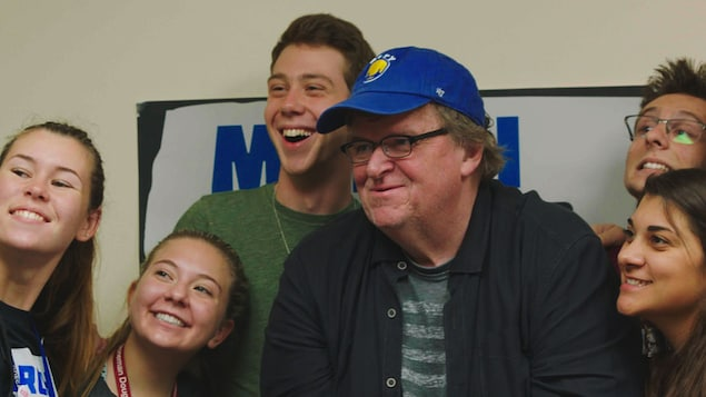 Le cinéaste Michael Moore dans une image tirée de son film <i>Fahrenheit 11/9</i>.