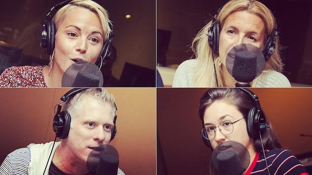 Vanessa Pilon, Sonia Lupien, Frédéric Savard et Aurélie Lanctôt