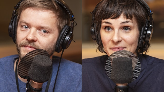 Dennis Kastrup et Dominique Leclerc au micro de Catherine Perrin.
