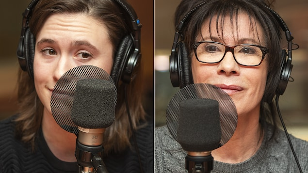 Camille et Sylvie Léonard au micro de Catherine Perrin.