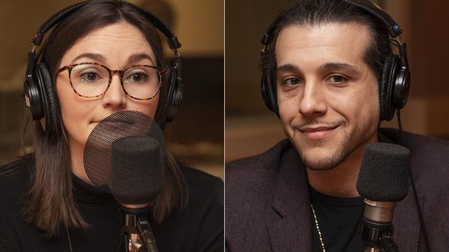 Gabrielle Madé et Karim S. Leduc au micro de Catherine Perrin.
