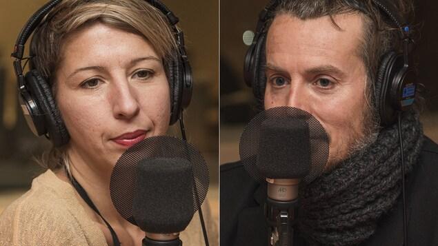 Catherine Major et Jean-François Moran au micro de Catherine Perrin.