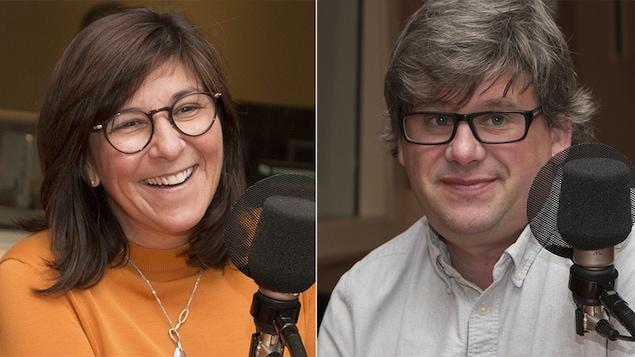 Le couple Marie Grégoire et Éric Montigny lors d'une entrevue accordée à Catherine Perrin