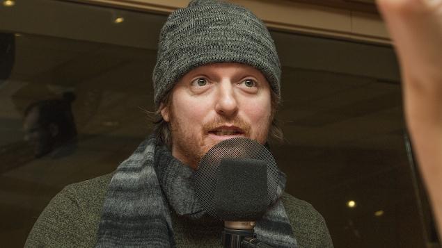 Olivier Langevin au micro de Catherine Perrin
