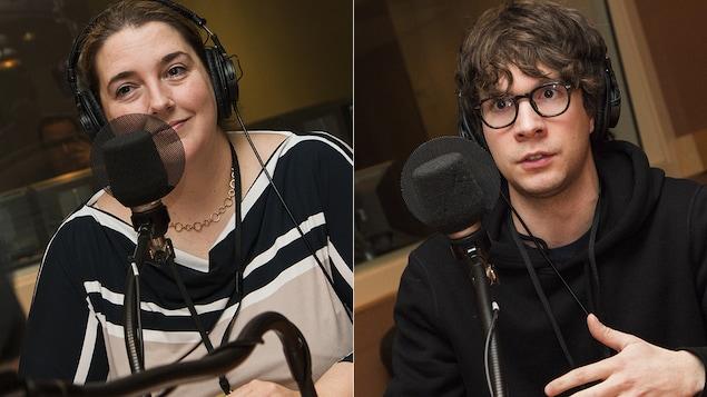 Laura-Julie Perreault et Jules Gauthier au micro de Catherine Perrin