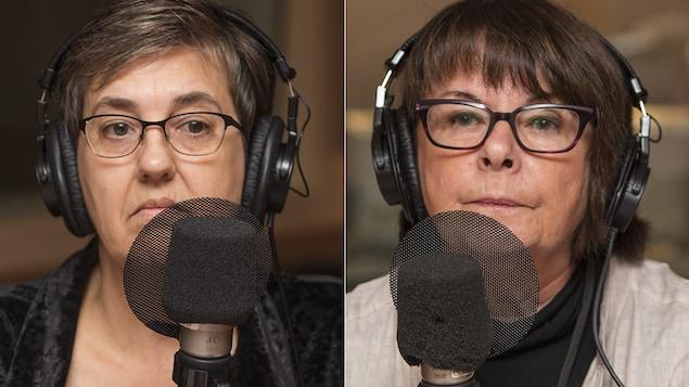 Mercedez Roberge et Sonia Éthier au micro de Catherine Perrin.
