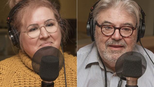Nadia Seraiocco et Donald Cuccioletta  au micro de Catherine Perrin.
