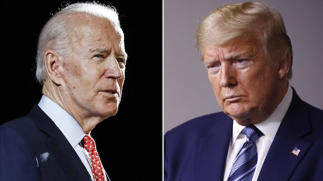 Montage photo de Joe Biden et de Donald Trump.