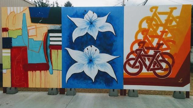 Murale en trois tableaux.