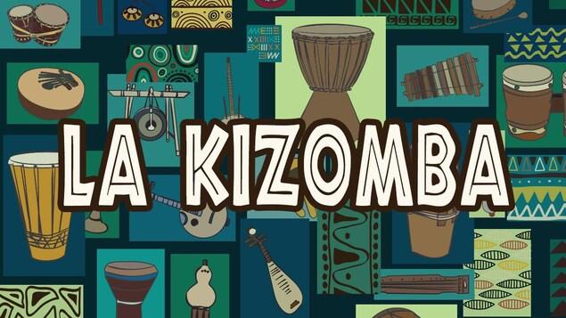 Illustration montrant des instruments de musique africaine.