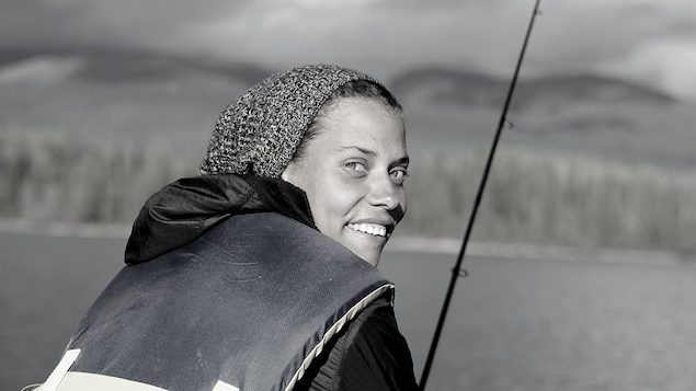 Lauran Bonon à la pêche.