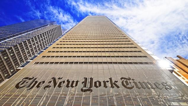 Les bureaux du New York Times sur la 8e avenue, dans le quartier Midtown
