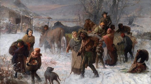 Illustration du Chemin de fer clandestin (The Underground Railroad).